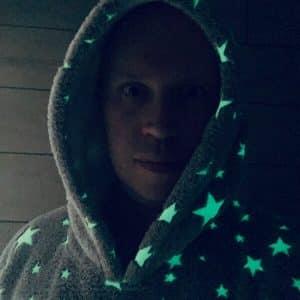 Hoodie Blanket Man Stars Glow