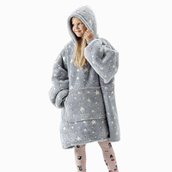 NOXNOX Hoodie Blanket Kids Stars