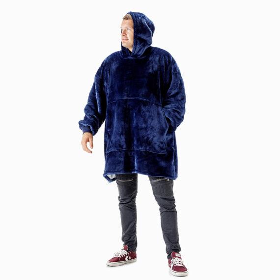 NOXNOX Hoodie Blanket Men Blue with Hoodie