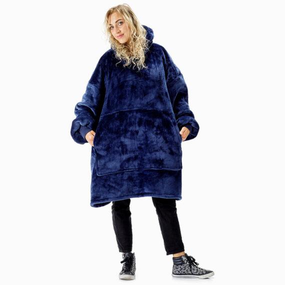 NOXNOX Hoodie Blanket Woman Blue