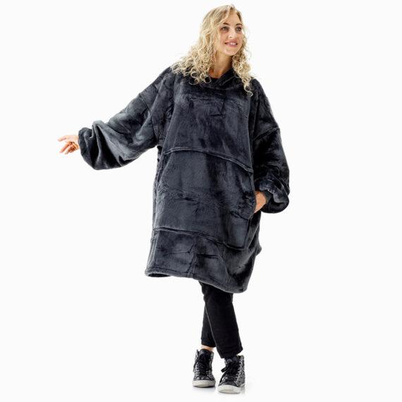 NOXNOX Hoodie Blanket Woman Gray